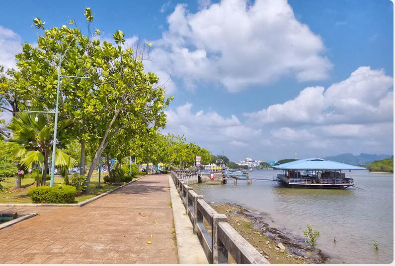 Krabi's seafront promenade