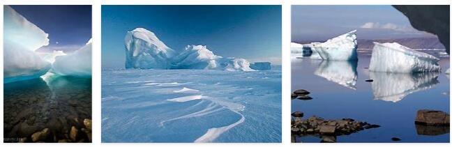 The Ellesmere island in the Arctic Ocean